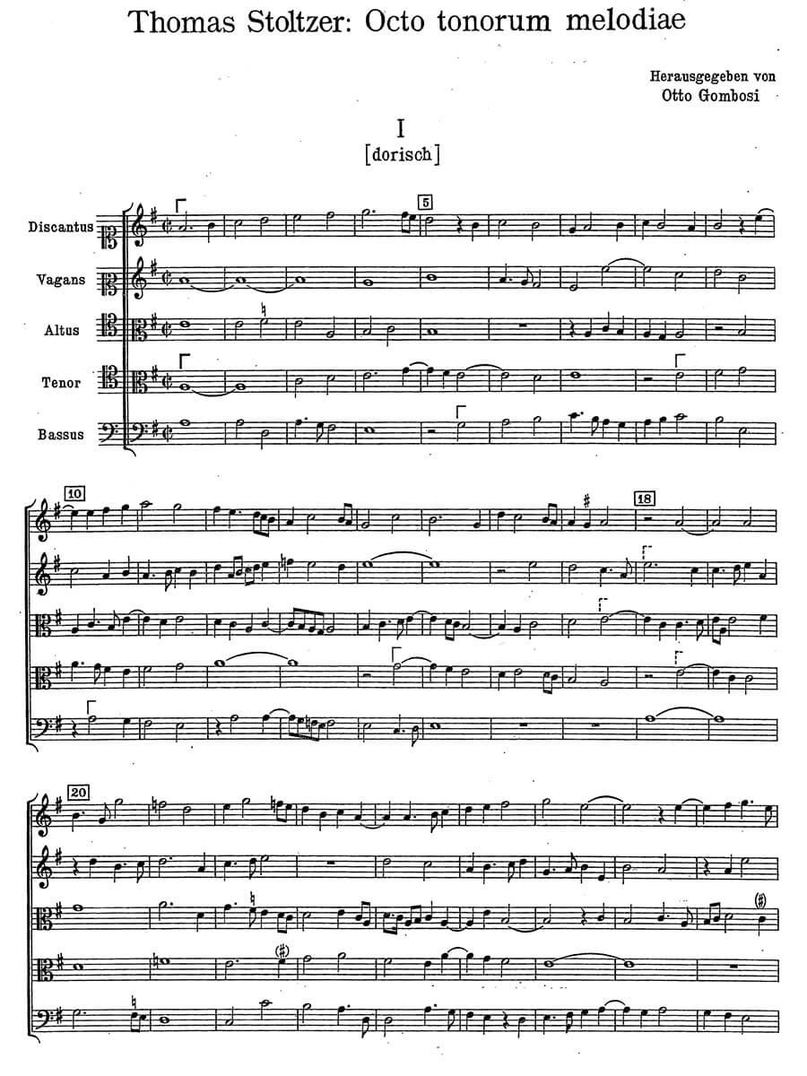 Stoltzer-Octo tonorum Melodiae