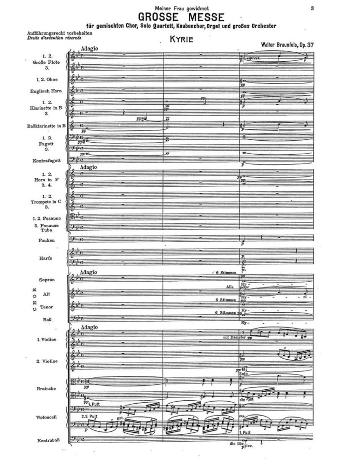 Braunfels-Grosse Messe op. 37