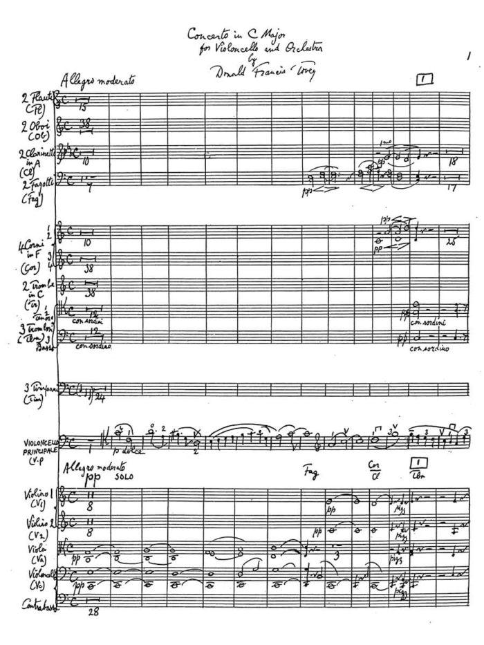 Tovey - Cello Concerto