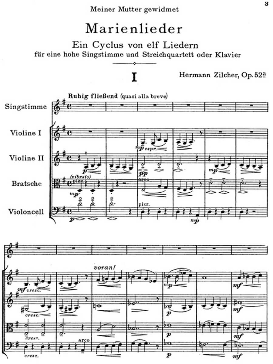 Zilcher-Ein Zyklus von elf Liedern op. 52a