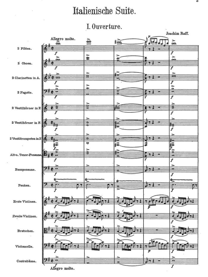 Raff - Italienische Suite