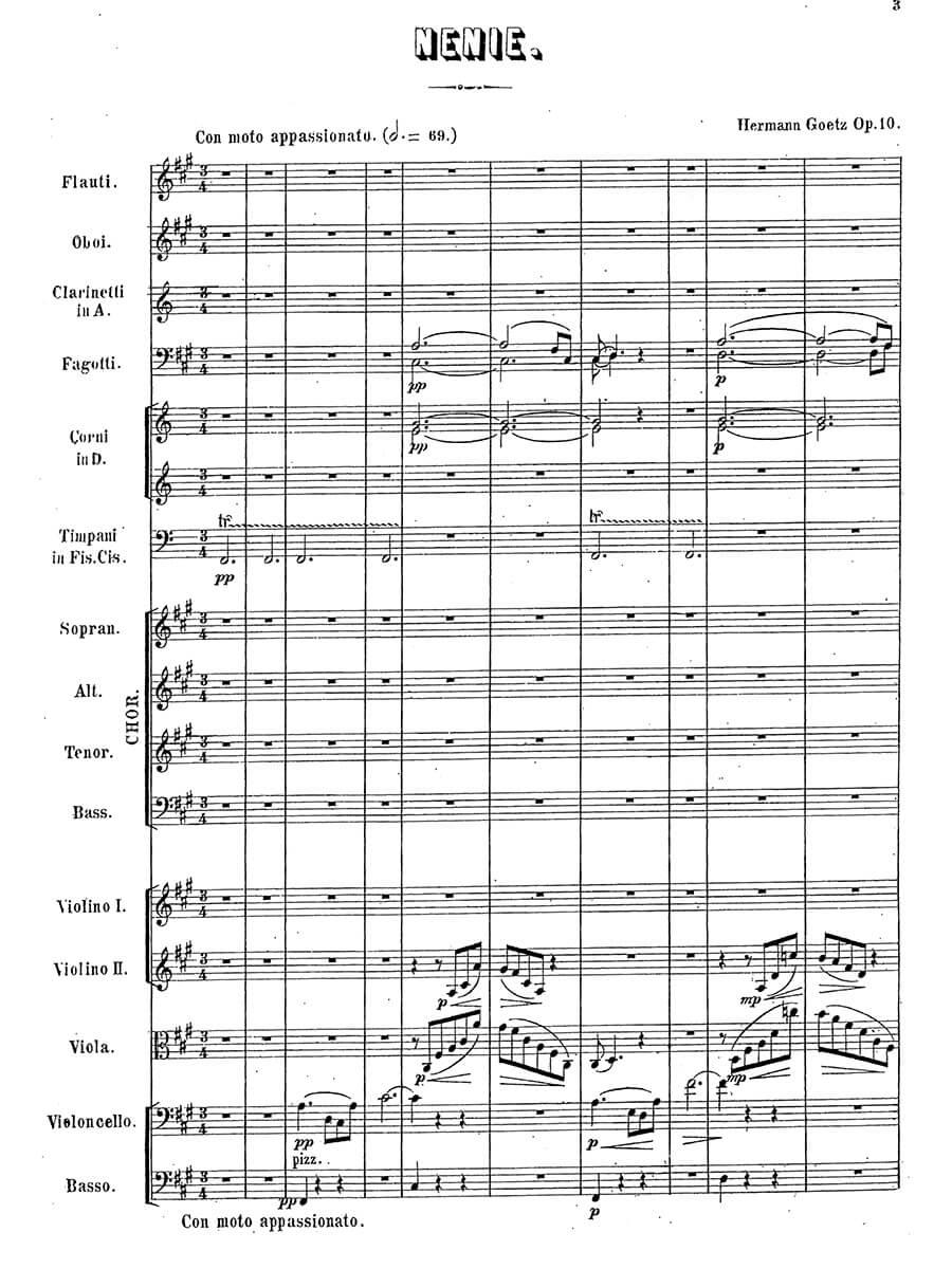 Goetz - Nenie Op. 10