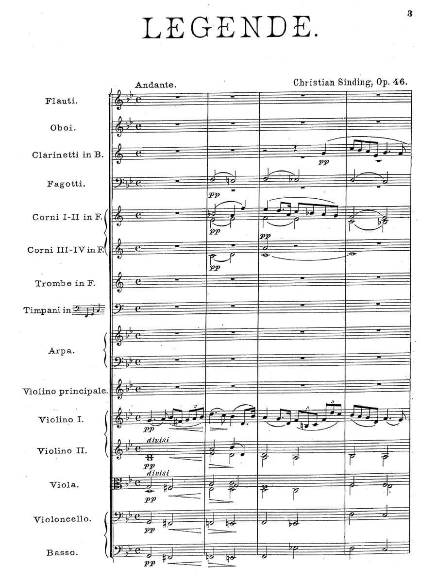Sinding - Legende Op.46