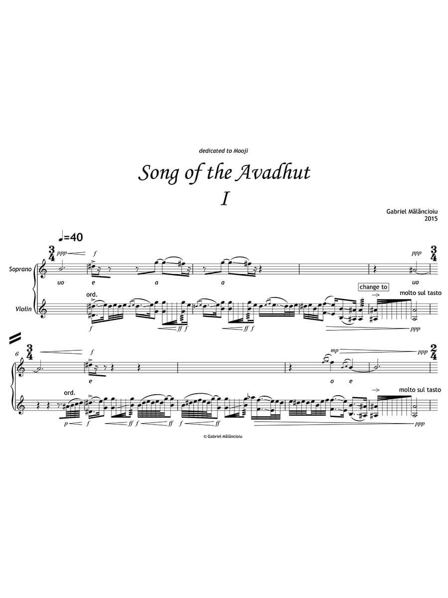 Mălăncioiu - Song for the Avadhut