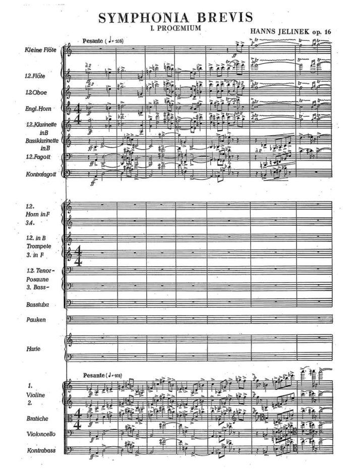 Jelinek - Symphonia Brevis Op. 16