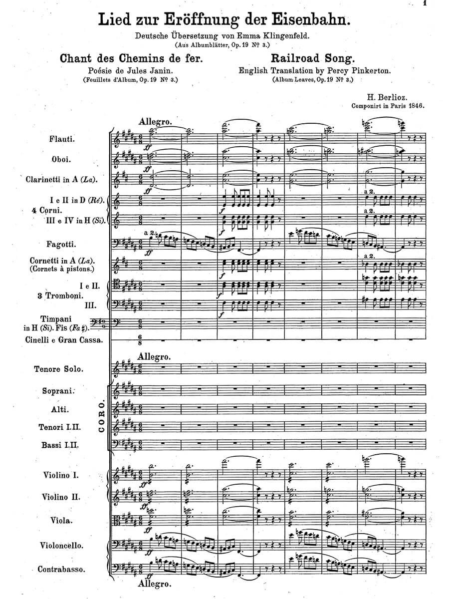 Berlioz - Chant des Chemins de fer